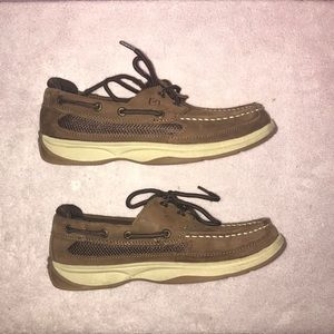 Sperry Top Sider Lanyard boat shoes brown, boys